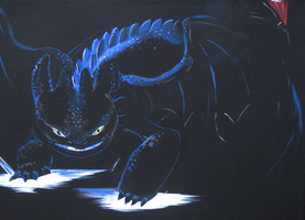 Glowing Alpha Toothless by Nomati