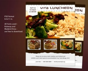 Free Flyer PSD Template - Invitation to a Luncheon by ThePixelMe