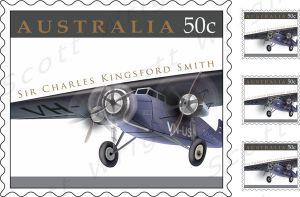 Kingsford Smith Stamp ::2:: by Digital-Anarchist