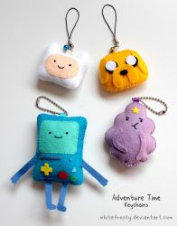 Adventure Time Plush Keychains by whitefrosty