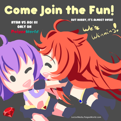 Nyan VS Aoi Contest Entry 41 by LectorMedia