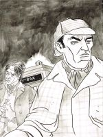 Eighth Doctor and Sherlock Holmes by KurtBelcher1