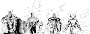 Thor, Captain America, Iron Man, Wolverine Inks by SWAVE18