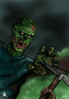 Zombie Concept art by jeransome