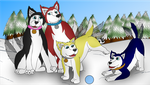 (COM) The Paw Family - Husky Group Post TF by SparkBolt3020