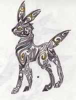 Umbreon Tribal Tattoo by Skrayle