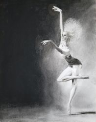 Crypt Ballet 11x14 charcoal by MichaelThom