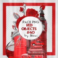 Red objects || 40 Pack png by iKoci