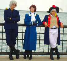 APH Cosplay-Prussia/Austria-Relaxing like a boss by nursal1060