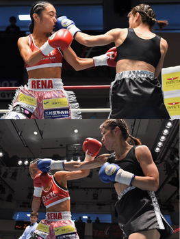 Female doctor boxer's defeat by femboxjp