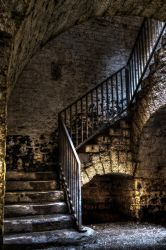 Stair to the ammunitions warehouse by RailluS-90