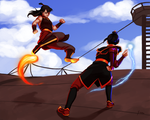 Princess Zuko vs Azula by yinza