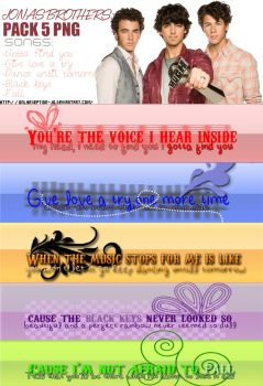 + Pack textos PNG Jonas Brothers by onlyexeption-JB