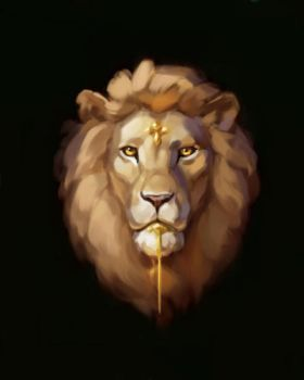 Painted Lion by ZaraAlfonso