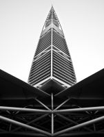 Triangles at Tower of Al Faisaliyah by Thameralhassan