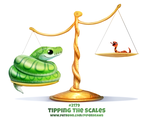 Daily Paint 2179. Tipping the Scales by Cryptid-Creations