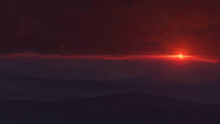 Sunset on P12K35C aka Vortex planet by Neuge