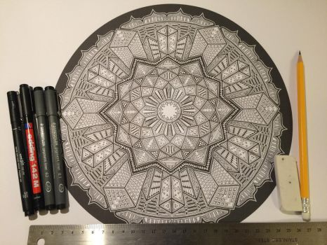Another new one for Colouring Book 2 by Mandala-Jim