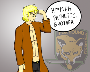 Liquid Snake for Poe-Raven by razielvskain
