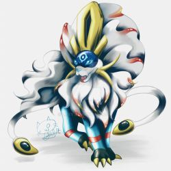 Pokemon fusion - Suicune x Solgaleo by Lyxy