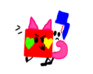 Flavored Pen and Red Kitty Cube (Contest) by PillowBFB