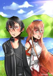 -Gift- Kirito and Asuna by xlemany