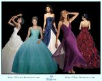 Dress Ball Gown Pack .PSD by LilyStox
