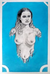 Nude Dolores from Westworld 2016 being rebuilt by carlgookins