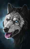 Commission: Hannibal - wolf by Brevis--art