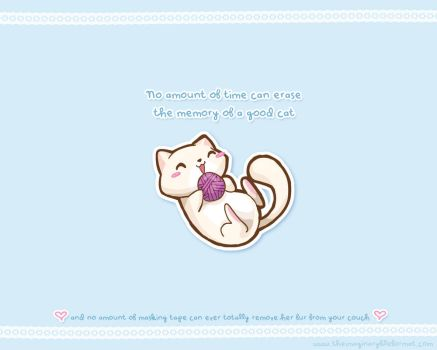 Yarn Cat Wallpaper by PeterPan-Syndrome