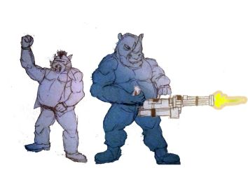 Bebop and Rocksteady by JMK-Prime