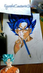 Son Goku Ssj God Blue by FujoshiCamaronQueso