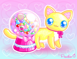 Gumball Candy Cat by Princess-Peachie