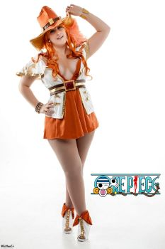 Nami 15th Anniversary One Piece figure cosplay by St3phBot