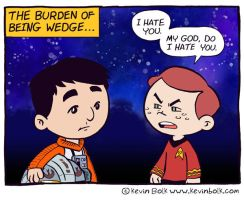 Star Wars Funnies: Wedge by kevinbolk