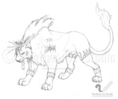 RED XIII Sketch 2010 by stormwhisper02