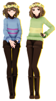 |MMD| TDA Frisk and Chara |+DL| by Cadene