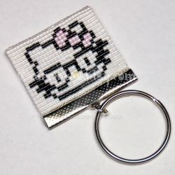 Hello Kitty Nerd / Hipster Keychain by CarrieBea