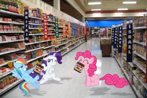 Ponies In Walmart by dontae98