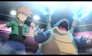 Pokemon Origins - Fighting the best [commission] by Kortrex