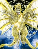 GMK: King Ghidorah [The Thousand Year-old Dragon] by AVGK04