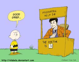 Charlie Brown and The Doctor.1. by Can-Cat