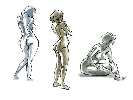 Ink and Watercolor Figures 1 by zacharyknoles