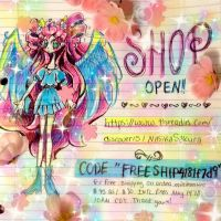 LAST DAY Free Shipping + Shop Launch! by NasikaSakura