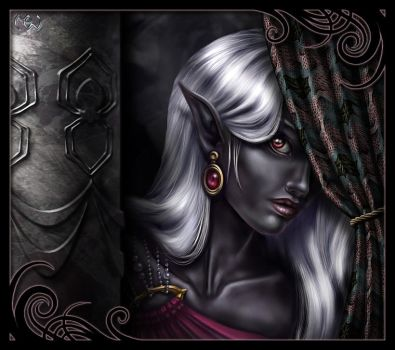 Drow Female by Pookinator