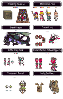 Earthbound Enemies by DragonDePlatino