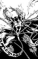 Spawn Classic inks by BDStevens