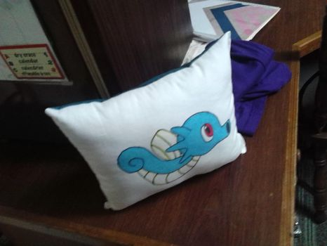 Horsea Pillow by Tibby-san