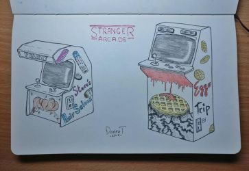Stranger Things arcade  by Dr4phT