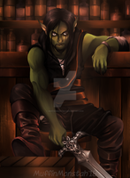 Dungeons and Dragons: Elian the half-orc by MuffinMonstah